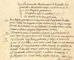 Usos de los tres principales instrumentos matemáticos de Michaele Coigneto. Manuscrito siglo XVII. Biblioteca Digital Hispánica.: