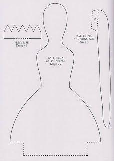 Moldes Para Artesanato em Tecido: Boneca Tilda - Bailarina Princesa Com Molde.
