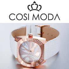 5ATM Water Resistant , Japan movement, white leather strap.