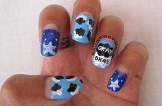 """Omg i thought these were so cute just like the movie.Now im going to get my nails done like that(if u didnt know the movie is called """"the falt in our stars)#thefaltinourstars :)"""