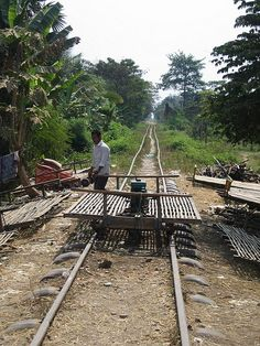 Bamboo Train, Battambang Cambodia - 2013