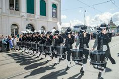 2015 Top Secret Drum Corpst at Basel Tattoo parade