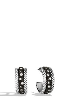 'Midnight Mélange' Small Hoop Earrings with Diamonds $850