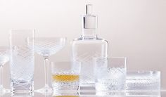 Hommage, nová kolekce barového skla ve 3 typech brusu Club, Crystals