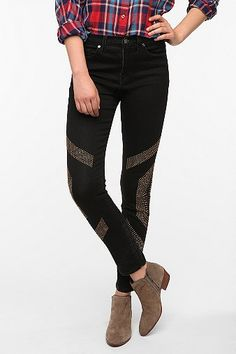 UrbanOutfitters.com > BDG Cigarette High-Rise Jean - Studded