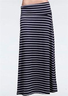 Nautical Stripe Maxi Skirt