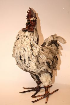 raku cockerel 1 by Joe lawrence art work, via Flickr