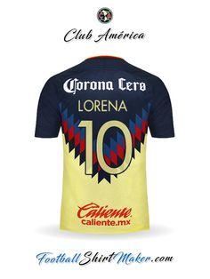 60c7ddd33 Camiseta Club America 2017 2018 Lorena 10