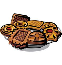 Cookies on plate vector Grilled Chicken Drumsticks, Fried Chicken Nuggets, Boat Vector, Vector Free, Hot Chocolate Vector, Panettone Cake, Traditional Shepherds Pie, Fruit Sketch, Baked Pretzels