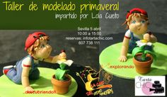 Tarta Chic: CURSO DE MODELADO CON LOLA CUETO 5 de abril del 20... Luigi, Mario, Fictional Characters, Role Models, Creativity, Fondant Cakes, Sevilla, Scouts