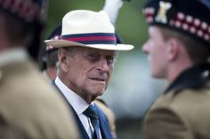 Prince Philip, Duke of Edinburgh presents Operational Service medals to the 4th Battalion, The Royal Regiment of Scotland on June 12, 2014 in Fallingbostel, Germany.