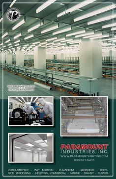 """This week, our """"Application Photo Gallery"""" features Cleanroom illumination. The upper main photo features Paramount's Aerolux® fixtures utilized by Seagate Corporation, located in Singapore. The lower photos are Paramount's Techniseal® Troffer fixtures utilized by Alcon Manufacturing in Huntington, WV.   ~ To learn more about Paramount's successful Cleanroom applications, visit: www.youtube.com/watch?v=ohwi_x4n8Fg Contact Paramount:  WWW.PARAMOUNTLIGHTING.COM  PIISALES@PARAMOUNTLIGHTING.COM"""