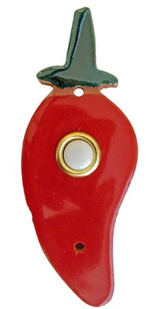 Red Chili Pepper Handmade Ceramic Doorbell Cover