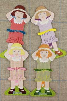 Sajou Little Girl Thread Cards, $23.95
