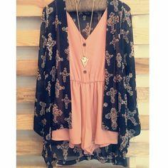 Romper + kimono