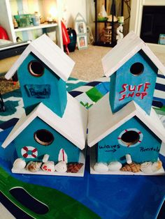 My beach birdhouses