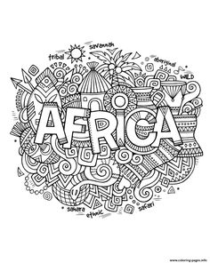 Coloring Pages African Mask Countries Africa Free Printable - african coloring pages of masks