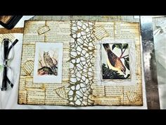 How to Make a Beautiful Book Cover for Your Junk Journal! Beginner's Tutorial! The Paper Outpost - YouTube Altered Books Pages, Altered Book Art, Journal Paper, Book Journal, Art Journals, Journal Ideas, Handmade Journals, Handmade Books, Envelope Book