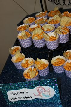 The Little Mermaid Birthday Snack Ideas – Girl Birthday Ideas Mermaid Theme Birthday, Little Mermaid Birthday, Little Mermaid Parties, The Little Mermaid, Birthday Snacks, Snacks Für Party, 6th Birthday Parties, 4th Birthday, Birthday Ideas