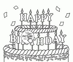 Happy Birthday Brother coloring page | sister/brother