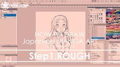 ✔ Step1 Digital drawing rough | How to draw Manga Art 2017.09.20