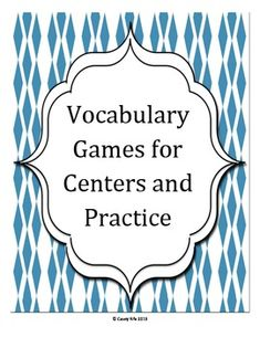 Vocabulary Games for Centers and Practice