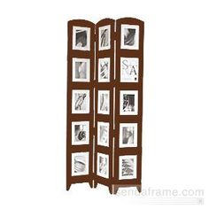 floor standing photo collage frames the original sona floor screen in beautiful walnut brown