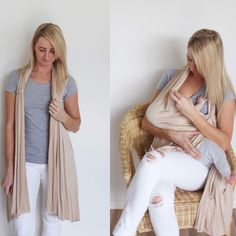 The Foxy Mummy Breastfeeding Cardigan offers style and discretion. Breastfeeding, White Jeans, Maternity, Breast Feeding