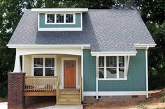 Small Bungalow, Bungalow House Plans, House Floor Plans, Dormer Bungalow, Bungalow House Design, Small Cottage Homes, Cottage House Plans, House Plans One Story, Small House Plans