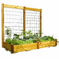 Gronomics Trellis with Safe Finish for Raised Garden Bed