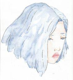 agora vai ter uma enxurrada  de postagem #watercolor  #portrait #watercolorportrait #painting #drawing