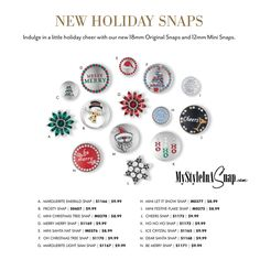 New Magnolia and Vine Holiday Snaps available at MyStyleInASnap.com  | BUY 4 SNAPS, GET 1 FREE!