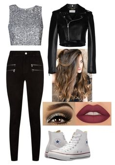 """Untitled #118"" by evangeline-237 on Polyvore featuring Paige Denim, Converse, Yves Saint Laurent and Urban Decay"