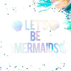 The iridescent colours in this party banner are perfect for any mermaid party. This banner features the words 'Lets Be Mermaids and comes with 4 seashells to add an extra magical touch to your event. It is made from our amazing holographic card and comes ready to string on high quality strong twine. Why not finish off your mermaid party look with our matching mermaid wall decor and a sprinkling of our fun mermaid confetti mixes. Take a look at our shop for our whole range…