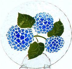 Hydrangea pattern at the Sydenstricker glass galleries - Brewster, Cape Cod.