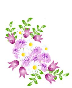Spring Flowers Decor PNG Picture Clipart