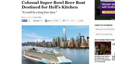 CRAZY!  Super Bowl Party Boat To Land At Hell's Kitchen!