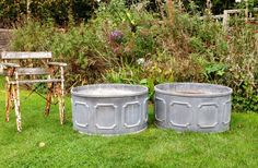 Large Lead Planters in Urns and Planters from The Vintage Garden Company