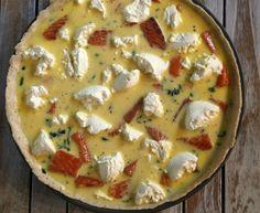 Laksetærte med spinat og ricotta ost