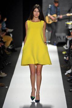 Not-so-mellow yellow at Rebecca Minkoff Fall 2013 runway #NYFW