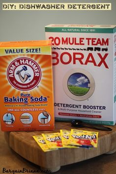 DIY Dishwasher Detergent Recipe #homemade #cleaners http://bargainbriana.com/diy-dishwasher-detergent-recipe/