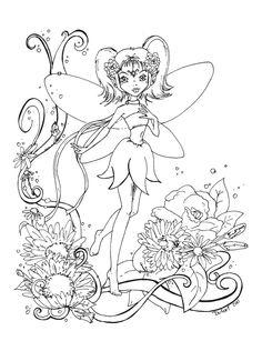 Flowers fairy lineart by JadeDragonne.deviantart.com on @deviantART