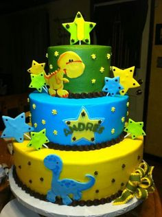 Dinosaur birthday cake done by Norma salas https://www.facebook.com/pages/Amelias-Cakes-by-Norma-Salas/446798582063109