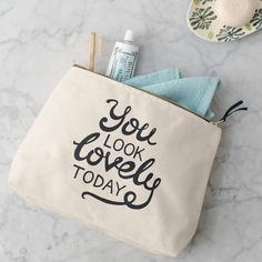 'you look lovely today' wash bag by alphabet bags | notonthehighstreet.com