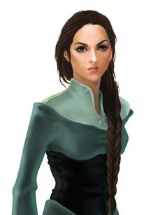 Nynaeve al'Meara, Wheel of Time - always loved Nynaeve best. My hair's approaching this length, too :)