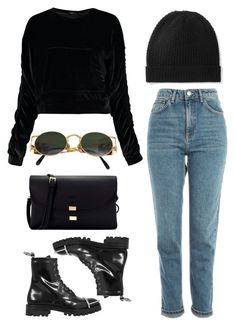 """to the mountains"" by redapplecigarettes ❤ liked on Polyvore featuring Boohoo, Topshop, Alexander Wang, Jean-Paul Gaultier and Madeleine Thompson"