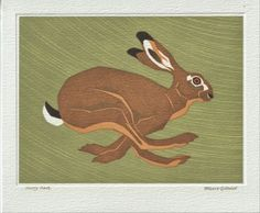 Robert Gillmor Greetings Card Hurry Hare Norfolk House, Love Cards, Craft Items, Weekend Is Over, Hare, Paper Goods, Mammals, Printmaking, Wildlife