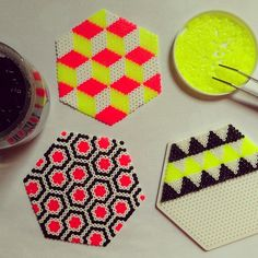 Coasters hama beads by superjulie