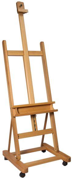 Mont Marte Floor Easel - Large Studio Easel w/Castor Wheels Beech Wood Floor Easel, Table Easel, Art Shed, Sheet Music Art, Pop Art Wallpaper, Recycled Art Projects, Art Studio Organization, Art Easel, Atelier D Art