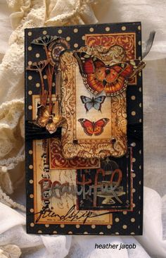 CARD - OUTSIDE VIEW - Paper is G45 Olde Curiosity Shoppe - Colors are really beautiful on this card
